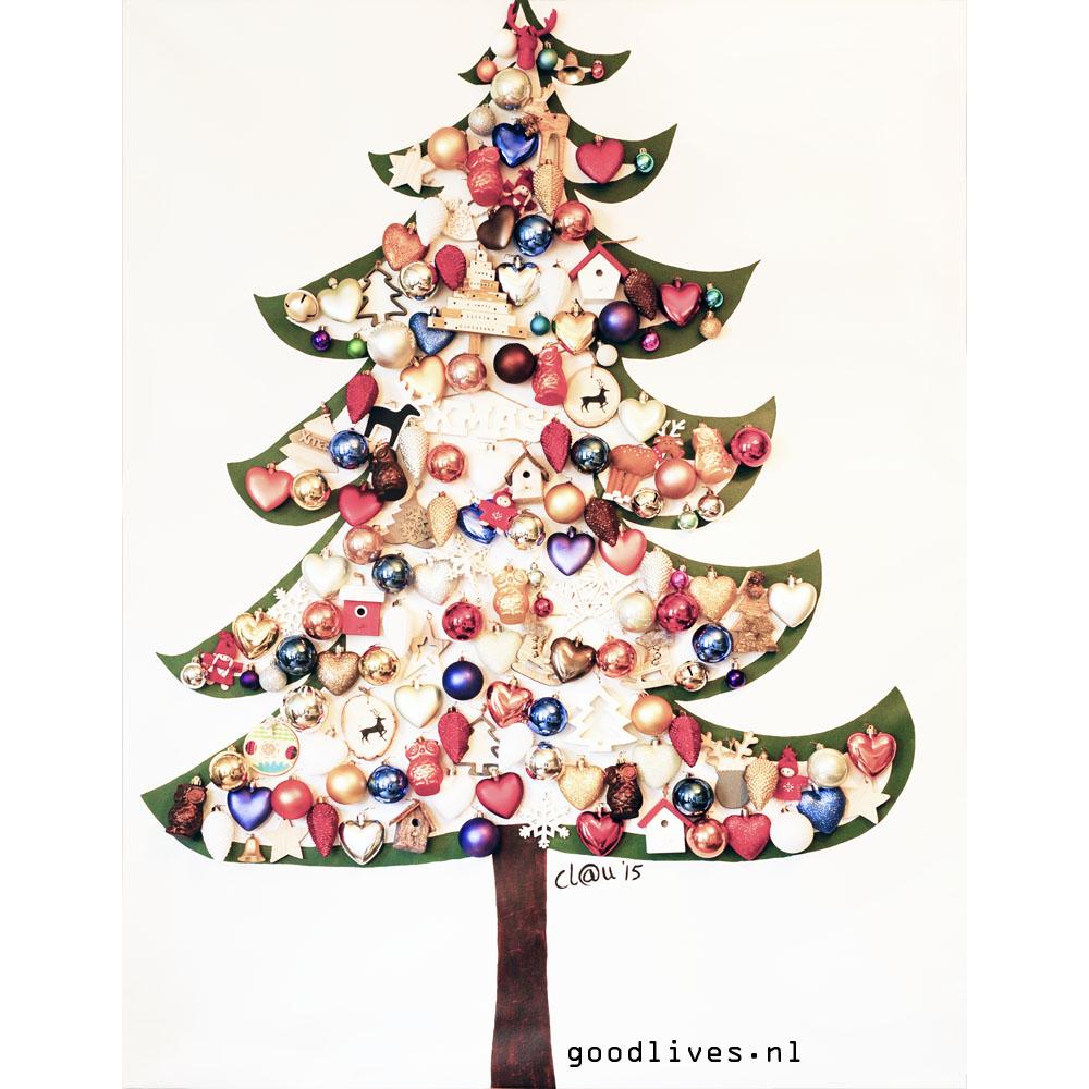Alternative Christmas tree on canvas DIY-IG on Goodlives.nl