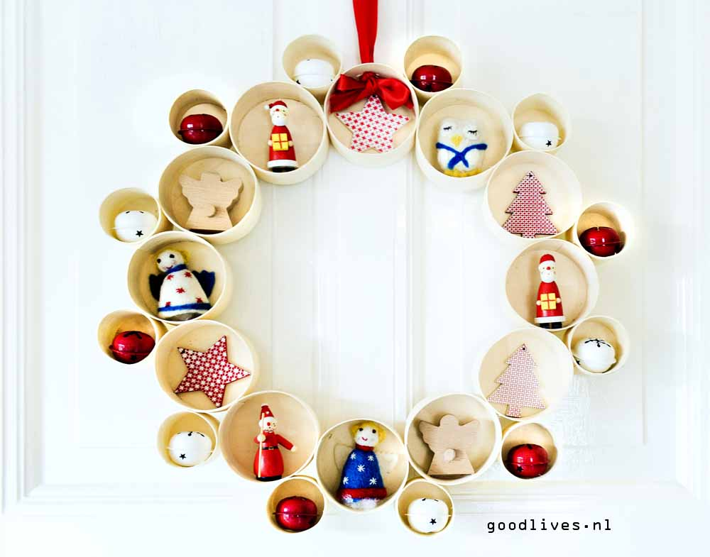 Alternatieve kerstkrans DIY