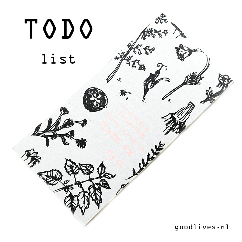 To do list on Goodlives.nl