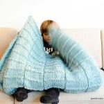 Nieuwe warme plaid met patroon om zelf te breien (#DIY)