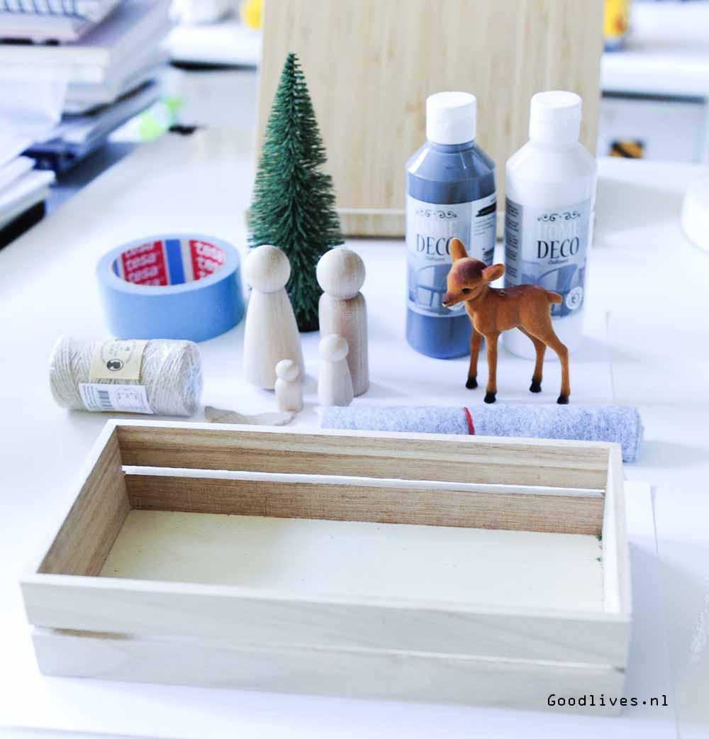DIY christmas crib - what do you need