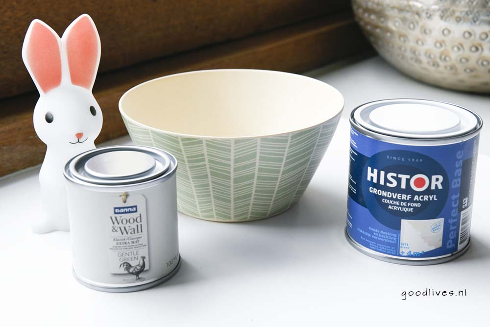 Easter bunny bowl, what do you need for the DIY goodlives.nl