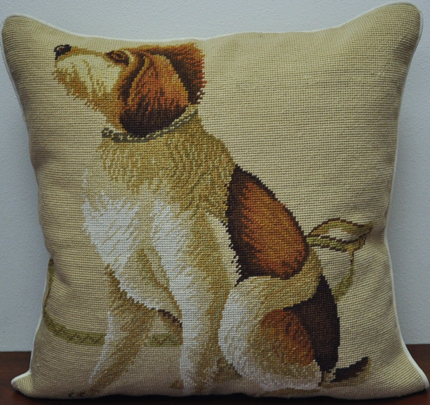 21 x 21 handmade wool needlepoint spinone italiano dog cushion cover pillow case 12980152