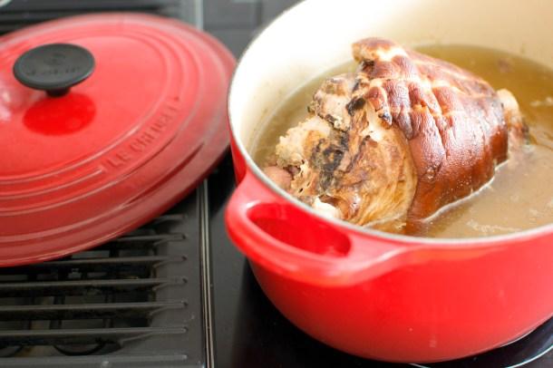 Grønnsaksuppe med svineknoke og linser-2