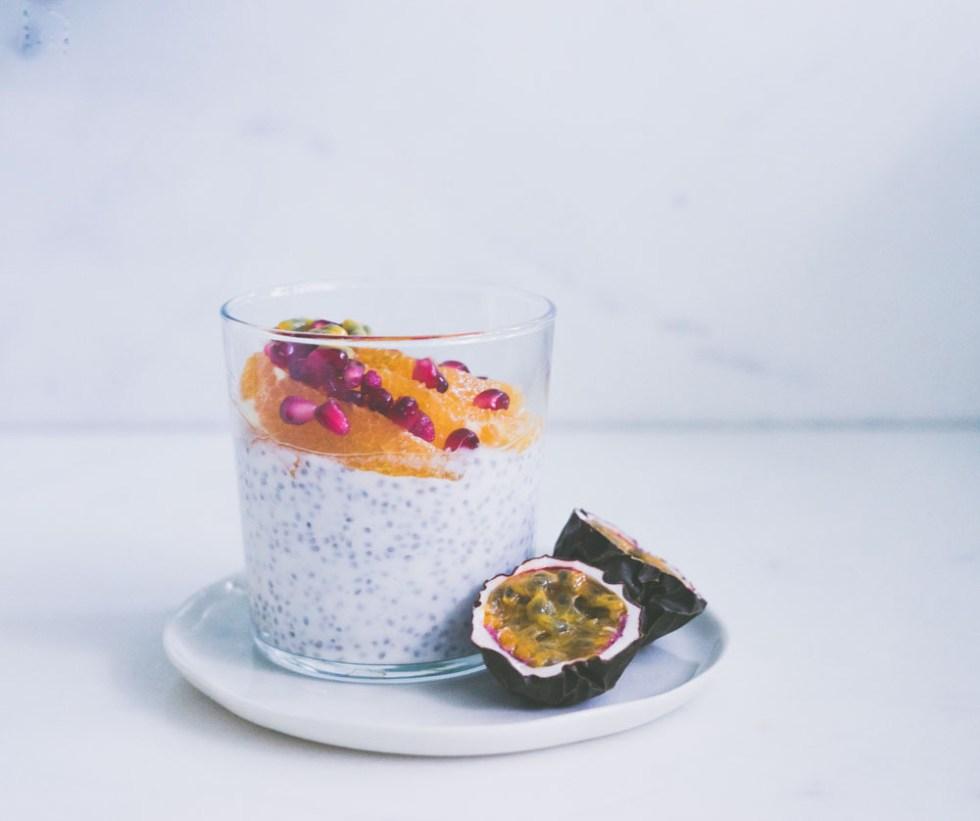 chiapudding med yoghurt