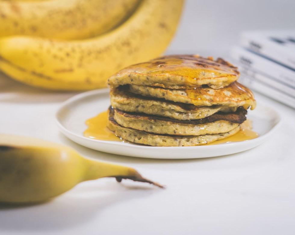 bananpannekake med chiafrø