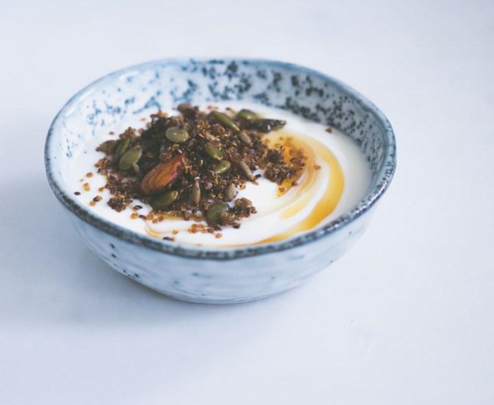 granola med quinoa