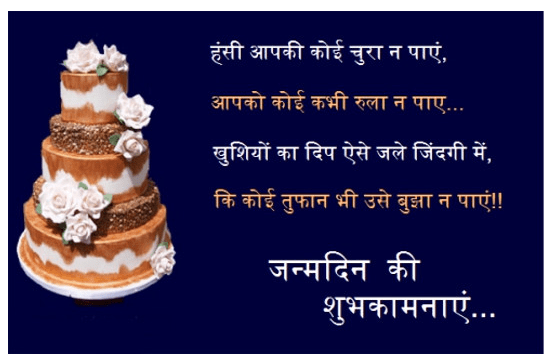 Happy Birthday Wishes In Hindi Images Happy Birthday