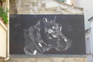 Black Hippo by Philippe Baudelocque - Butte aux cailles