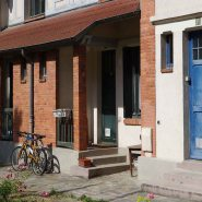 Brick house and bicycles in La Patite Alsace
