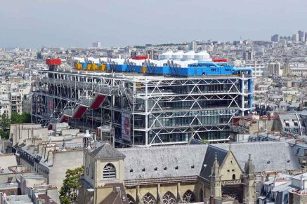 Beaubourg from the top of the Tour Saint Jacques