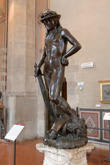 Florence-the Bargello-David by Donatello