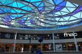Beaugrenelle Paris-the fnac under the glass roof