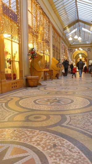 Mosaic floor and shops-Galerie Vivienne-Paris
