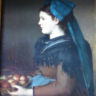 Musee Henner-Paris-Alsacian girl holding a basket of apples