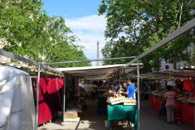 Marche-Saxe-Breteuil-Paris- The Eiffel Tower in the background