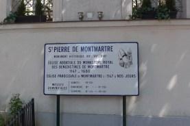 At the entrance of Saint Pierre de Montmartre