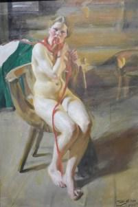 Jeune femme nue se coiffant-1907