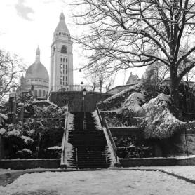 Snow around the Sacre Coeur - Montmartre