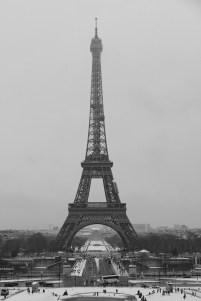 The Eiffel Tower - Closed for Snow - Paris - February 2018