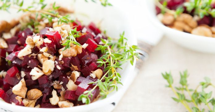 Both beets and walnuts made the list of the world's healthiest foods