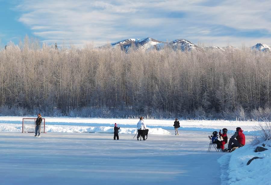 Calgary Man Creates Massive Free Public Skating Rink on His Pond - Good News Network