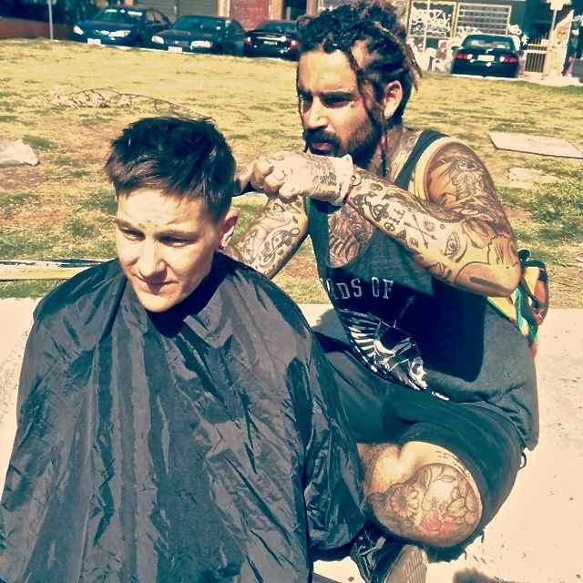 nasir sobhani outside cutting hair instagram