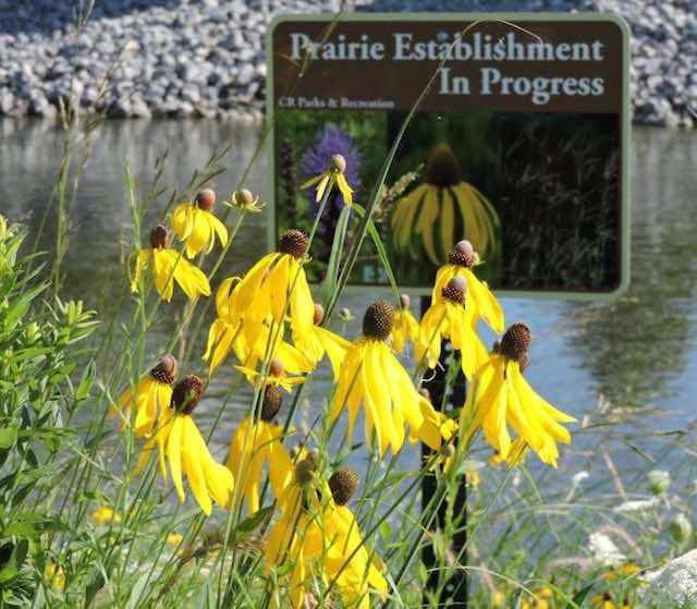 Praire Sign-Cedar Rapids Parks and Recreation