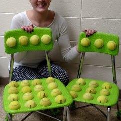 Ball Chairs For Students Big Joe Dorm Bean Bag Chair Teacher Creates From Tennis Balls To Soothe Autistic