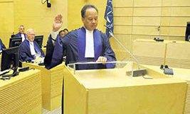 Raul Pangalanan, being sworn in as ICC Judge