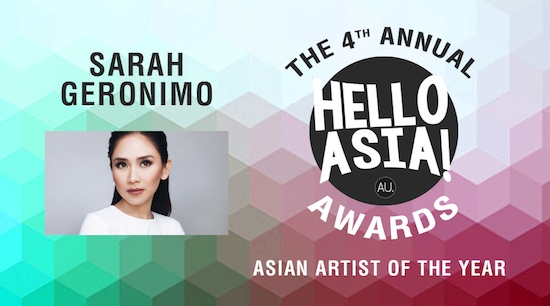 Sarah Geronimo - Asian Artist of the Year