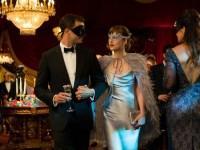 Johnson wears stunning Lhuillier in 50 Shades Darker