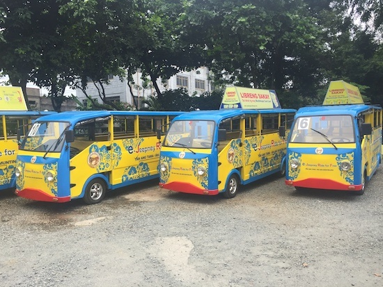 Modernized jeepneys