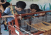 Special needs students using handlooms