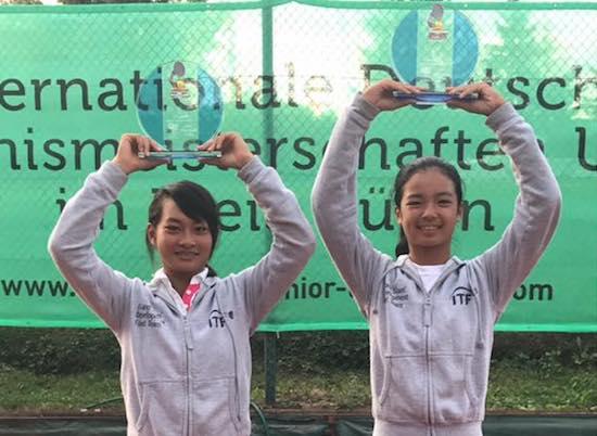 The La Balle Mimosa Loire-Atlantique doubles champions