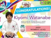 Fil-Japanese Kiyomi Watanabe wins Asian Games Silver in Judo