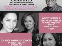 Good News Pilipinas asks award-winning radio broadcaster Noel Ferrer, Agot Isidro, Pia Hontiveros about Filipino Pride on All Kaps! Radyo Katipunan
