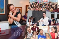 Catriona Gray wields woman power to spread positivity in visits with children of Young Focus, Love Yourself, Smile Train, and Fr. Tony Labiao's orphanage
