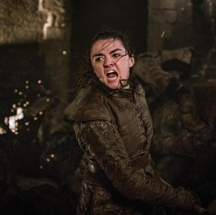 The Game of Thrones' Arya Stark plated by Maisie Williams, uses Filipino fight techniques to battle against the Night Army. Credits to HBO.