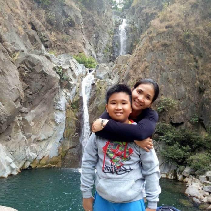 Josie Gabuco and son