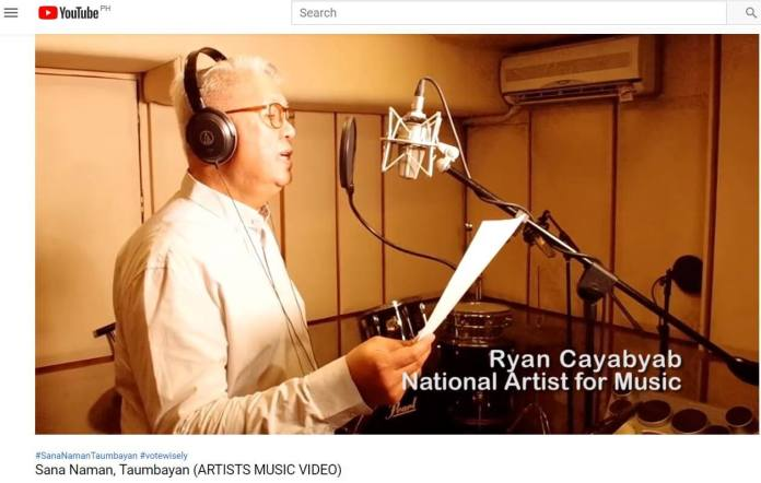 Ryan Cayabyab National Artist for Music