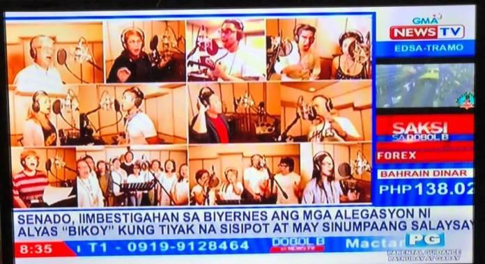 music video GMA news tv screen