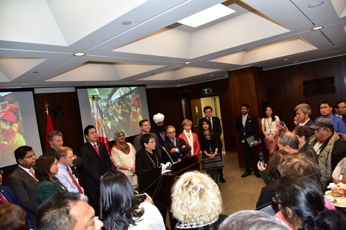 The Canadian House of Commons leads the celebration of the first Filipino Heritage Month this June 2019. Credits to Hon Ahmed Hussen.