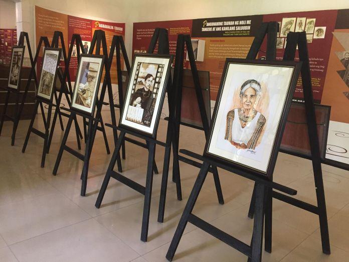 Combined exhibits of Debujo Natural by Janina Sanico and Etimolohiya by Catherine Lizo Hernandez at the Museo ni Jose Rizal in Calamba, Laguna.