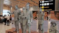 Mactan airport's living statues of Filipino history icons surprise passengers