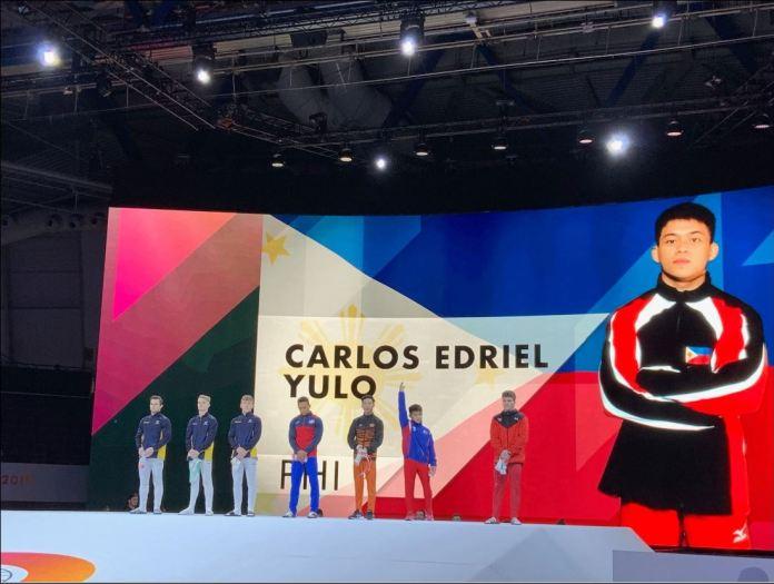 Filipino gymnast Carlos Yulo