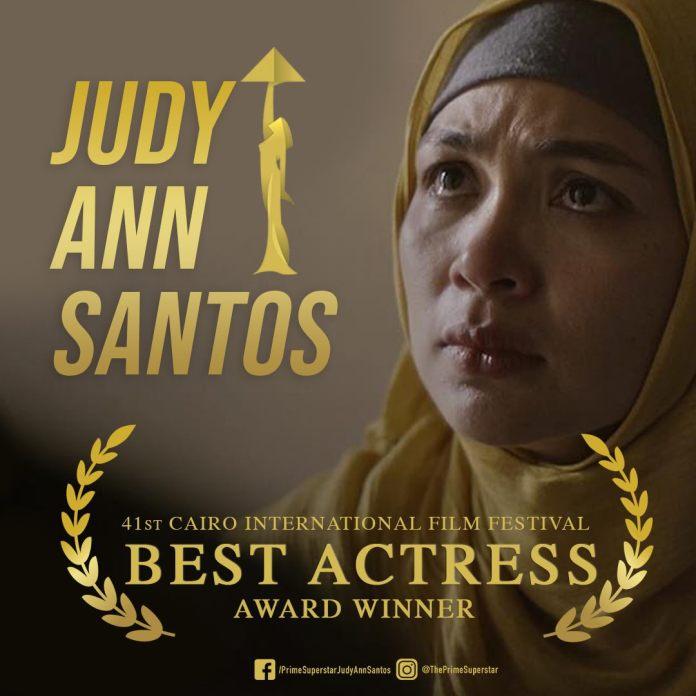 Judy Ann Best Actress awardee