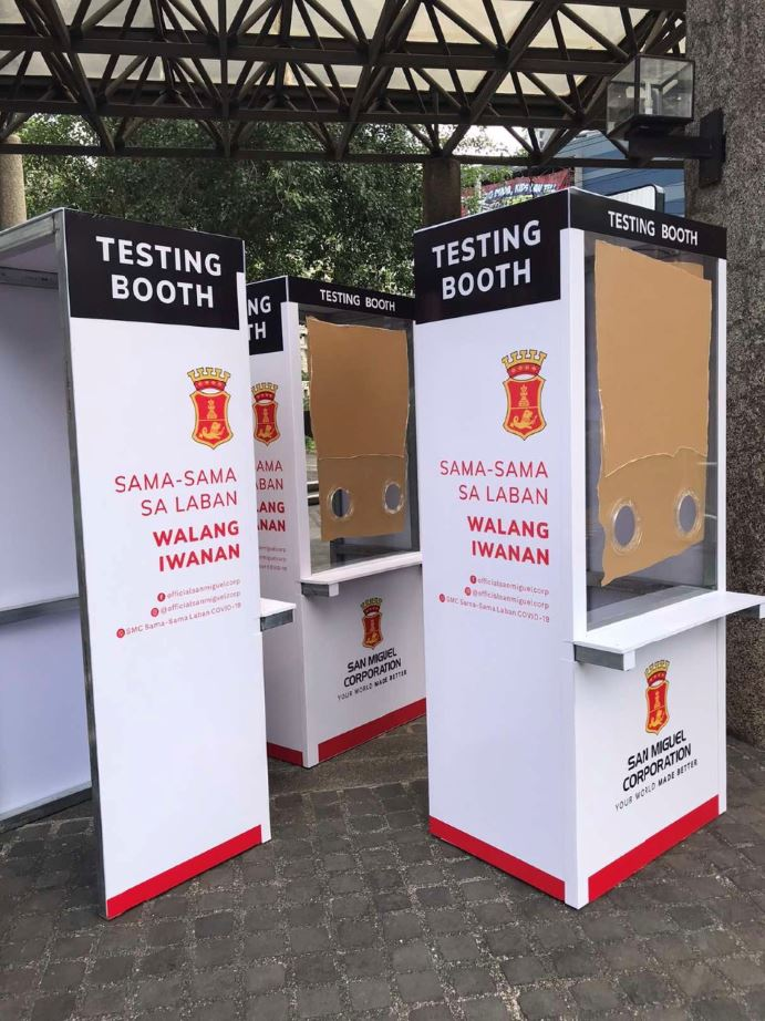 San Miguel Corporation donate swabbing booths