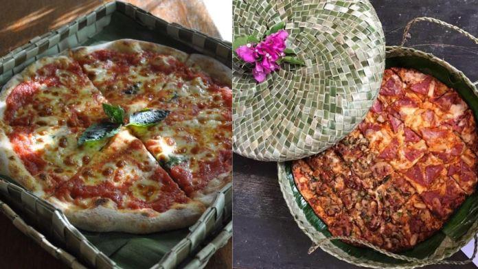 BrickOven café handwoven pizza boxes