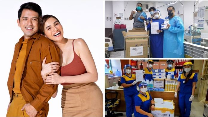 Jennylyn Mercado donated essential supplies